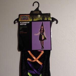 Rainbow witch costume womens/juniors